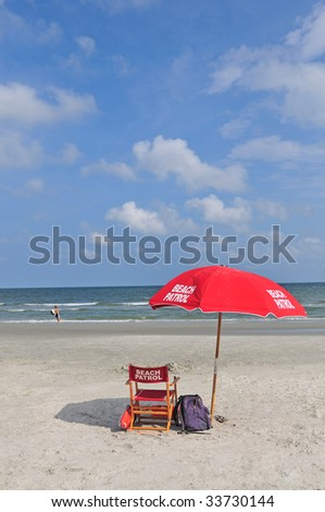 lifeguard parasol