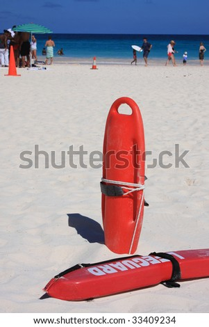 Lifeguard rescue on beach