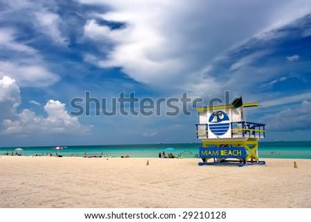 Lifeguard Stand, South Beach Miami, Florida