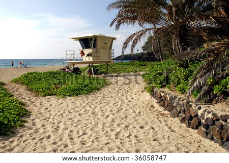 Lifeguard Station On A Hawaiian Beach