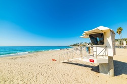 Lifeguard tower in Laguna Beach, California