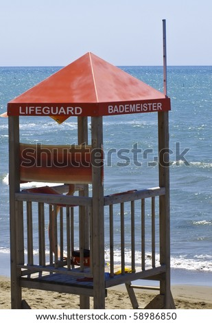 lifeguards place in Italy beach