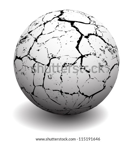 Lifeless surface of the earth with cracks.