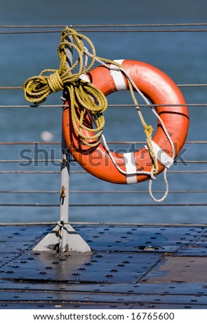 lifeline ready to be thrown into the water