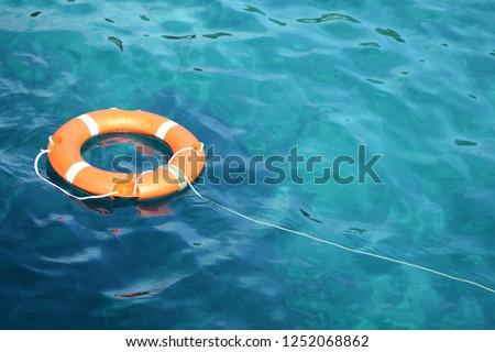 Lifeline thrown into the ionian sea. Stockfoto ©
