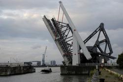 Lift bridge Antwerp, Belgium