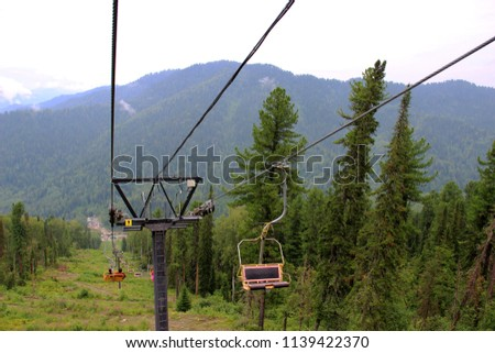 lift, movement, mountains, alpine skiing, landscape, seat, chairlift, recreation, active recreation, sports, building #1139422370