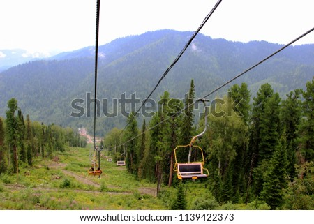 lift, movement, mountains, alpine skiing, landscape, seat, chairlift, recreation, active recreation, sports, building #1139422373