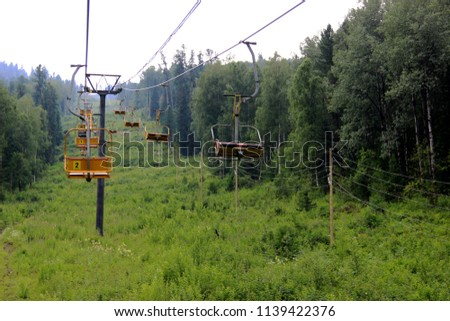 lift, movement, mountains, alpine skiing, landscape, seat, chairlift, recreation, active recreation, sports, building #1139422376