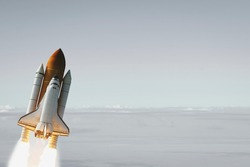 Liftoff of the rocket. The elements of this image furnished by NASA.