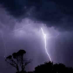 Lighning storm over Hunter Valley, East Coast, NSW, AUstralia