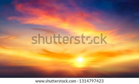 light about the sky . Paradise heaven . Dramatic nature background . Journey of the Soul . background sky at sunset and dawn .