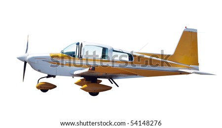 Light Aircraft isolated with clipping path