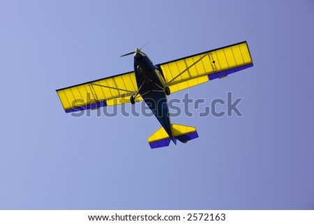 Light aircraft landing