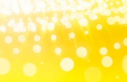 Light airy abstract background with flying white balloons in yellow - orange tones. Backing for slides, text in booklets or on the website.