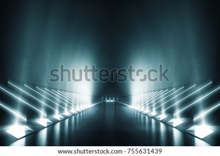 Light and reflection Elegant futuristic background. 3D rendering.