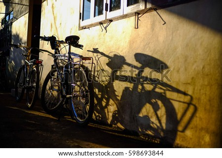 Light and Shadow of the bikes #598693844