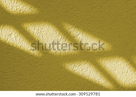Light and shadow on the wall