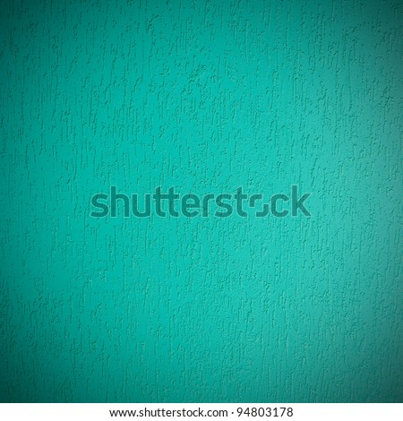 Light aquamarine texture of a plastered wall