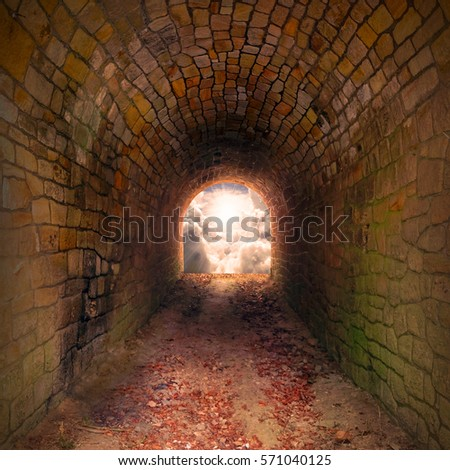 Light at end of the tunnel. Way to freedom or to heaven. Opened door & Free photos Door to Heaven. Light at end of the tunnel. Hope ...