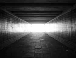 light at the end of the tunnel,