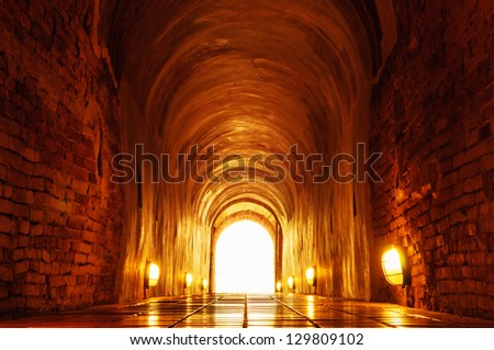 Light at the end of the tunnel, Old brick tunnel.