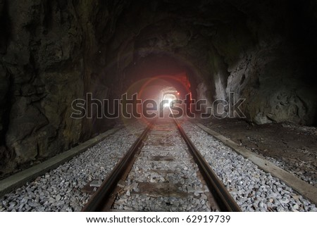 Light at the end of train tunnel