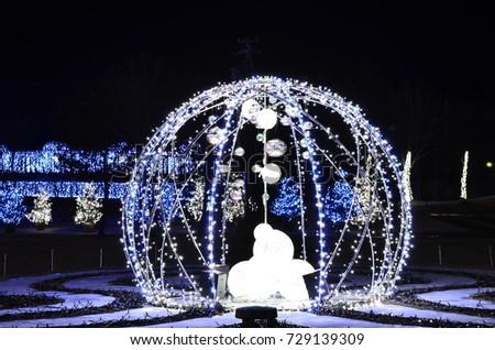 light ball christmas at park