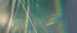 Light beam through glass, lines, background