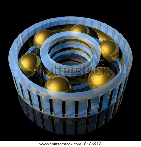 light bearing (high resolution 3d illustration)