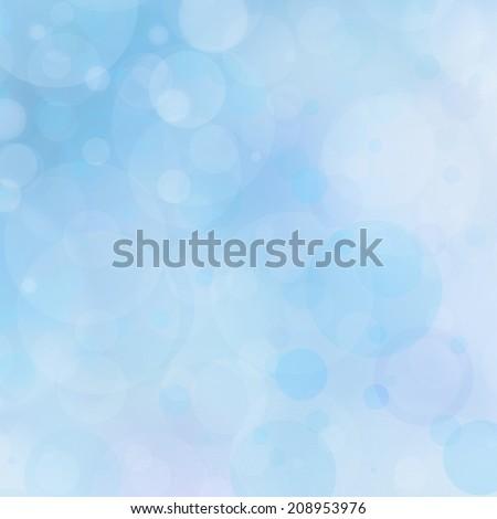 light blue background bokeh lights, circle bubble shapes, white lights design