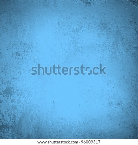 light blue background with faint old vintage grunge texture for Easter backdrop or baby boy birth announcement with copyspace