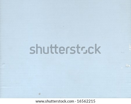 Light blue corrugated cardboard sheet background