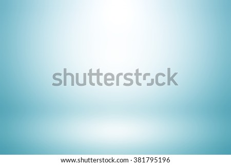 Light blue gradient abstract background / blue room studio background