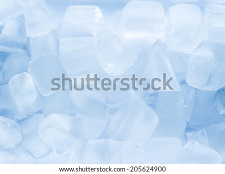 Light blue ice cubes