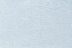 Light blue linen fabric texture background