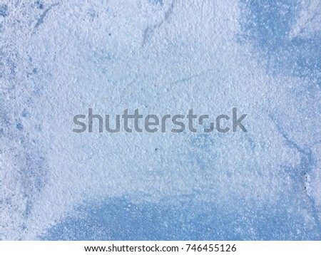 Light Blue Paint Cement Wall Background