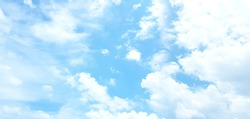 Light blue sky and white clouds. (panorama)