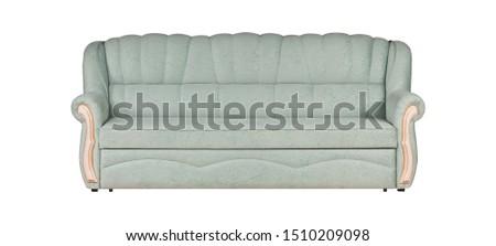 Light-blue sofa isolated on white