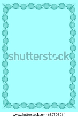 light blue solid background with abstract vertical frame copy space