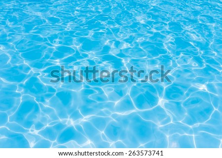 Light Blue swimming pool rippled water texture reflection - Shutterstock ID 263573741