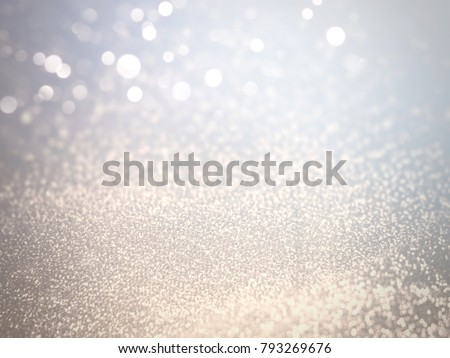 Light Bokeh White on Blurred Background of Silver and Golden Glitter in Festival and Fashion Concept ,Free Copy Space. - Shutterstock ID 793269676