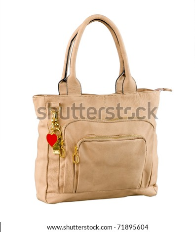 Light brown fashion lady handbag great to keep all lady accessories