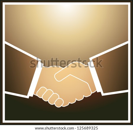 light brown handshake of the business partners