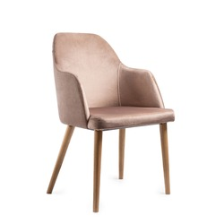 Light brown modern chair isolated