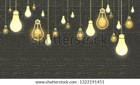 Light bulb background elements.Illustration background.Graphic Illustration.Conceptual Illustration