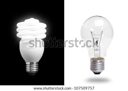 light bulb compare - stock photo