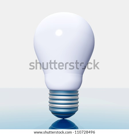 Light Bulb Computer generated 3D illustration - stock photo