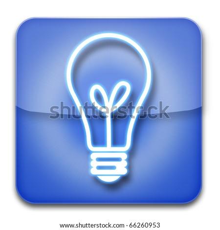 Light Bulb icon blue