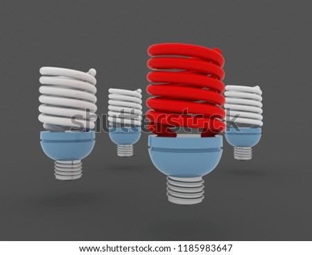 light bulb.individuality and different creative idea concepts . 3D rendered illustration Stok fotoğraf ©